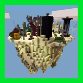 New Sky Island Battles. Map for MCPE 20