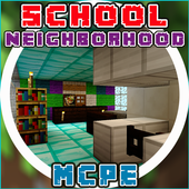 School And Neighborhood  MCPE 1.0