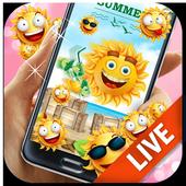 Summer Vibe Emoji Live Wallpaper 2.0.0.2020