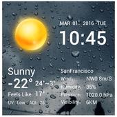 Desktop Weather Clock Widget 16.6.0.6271_50157