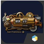 Steampunk Style Weather Widget 14.1.0.44430_44442