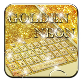 Neon Golden Glitter Keyboard 10001009