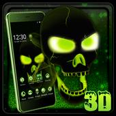 Neon Poison Skull 3D Theme 1.1.4