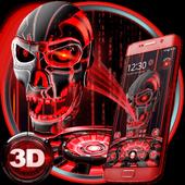 3D Tech Blood Skull Theme 1.1.14