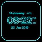 Neon Digital Clock Live Wallpaper 1.0