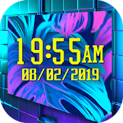 Neon Clock Wallpaper - Led Digital Clock 1.0