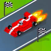 Blocky Turbo Race Cars 2D: Traffic Games 16