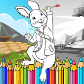 Free Kids Paint Bunny (Peter Rabbit Coloring Game) 1.0