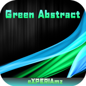Тема eXPERIAmz- Green Abstract 1.0