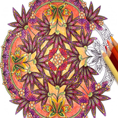 Flowers Mandala Coloring Pages 1.6
