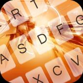 Orange Tech Theme Keyboard