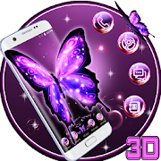 3D Neon Butterfly Theme 2.0.14