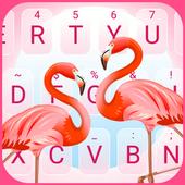 Pink Flamingo Theme&Emoji Keyboard 3.0
