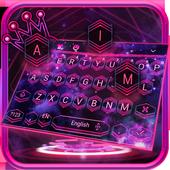 Pink Purple Galaxy Keyboard