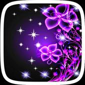 Purple Neon Flower Theme 1.0.0