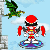 Flying red rangers jump game 1.0