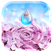 Water Ripple Flowers Live WP 1.1