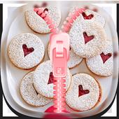 Cookies Zipper Lock Screen 1.1