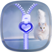 Cute kitty Zipper Lock Screen 1.1
