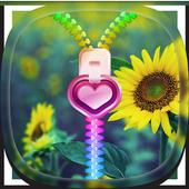 Sunflower Zipper Lock Screen 1.1