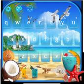 Summer Beach Keyboard Theme 10001003