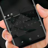 Simple Black Keyboard Theme for HUAWEi Wallpaper 10001002