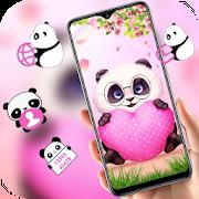 Pink Cartoon Panda Love theme 2.0.50