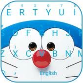 Blue Robot Cat Theme&Emoji Keyboard 4.5