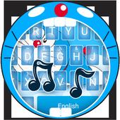 Blue Cat in Sky Theme&Emoji Keyboard 4.5