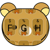 Cute Yellow Bear Theme&Emoji Keyboard 3.0
