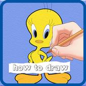 How To Draw - Cartoon Tweety Bird Looney