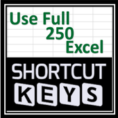 Usefull Excel 250 Shortcuts 7.2