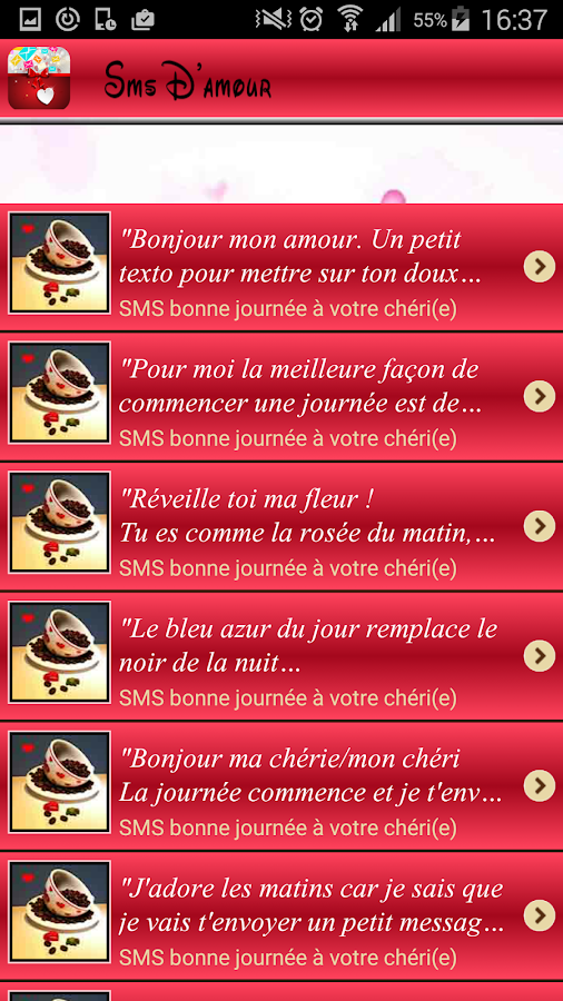 Meilleurs Messages Damour 11 Apk Download Android