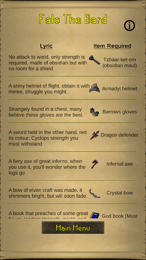 OSRS Clue Scroll Guide 1 0 APK Download - Android Tools Apps