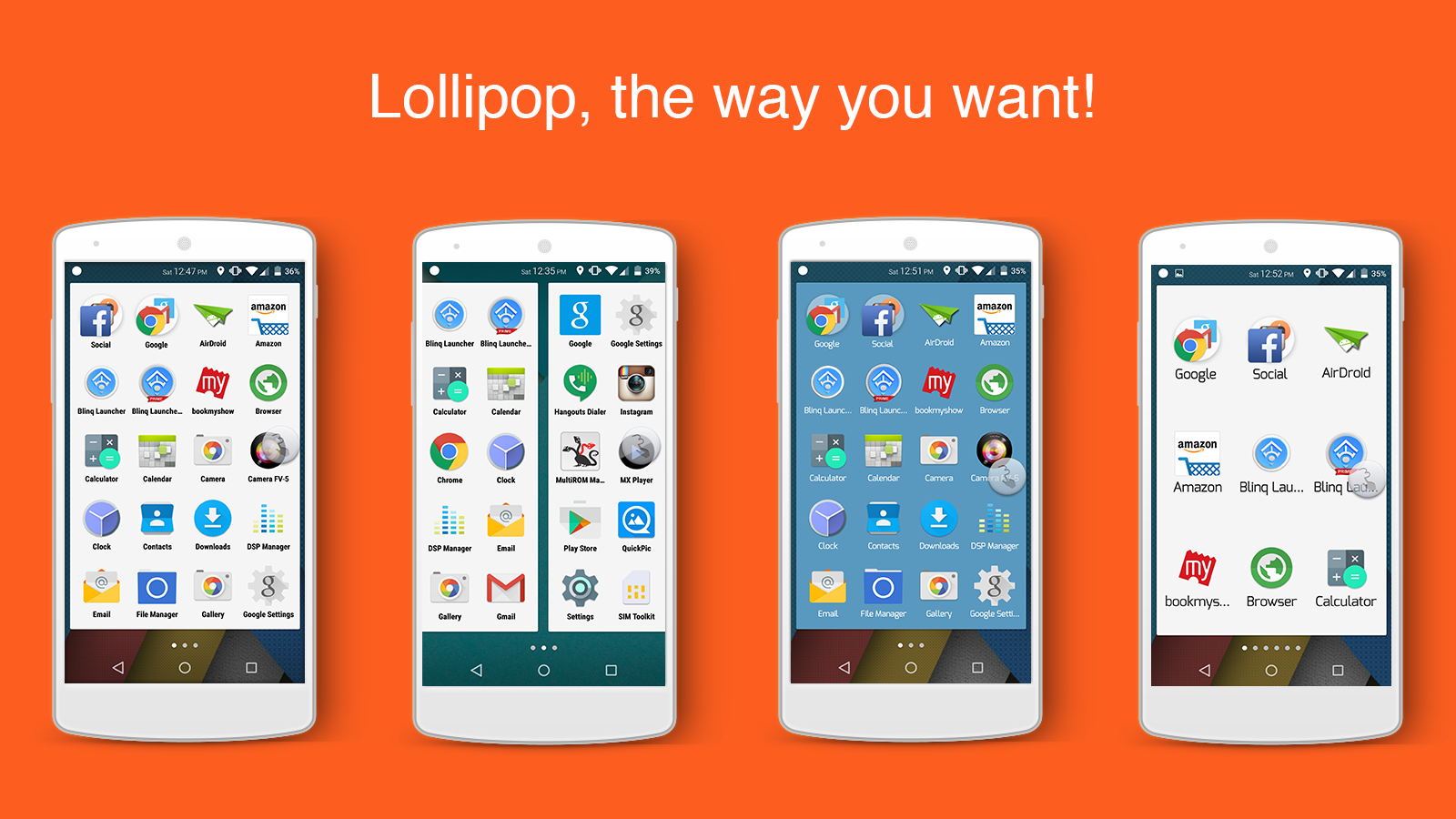 Blinq Lollipop Launcher Prime 1 APK Download - Android
