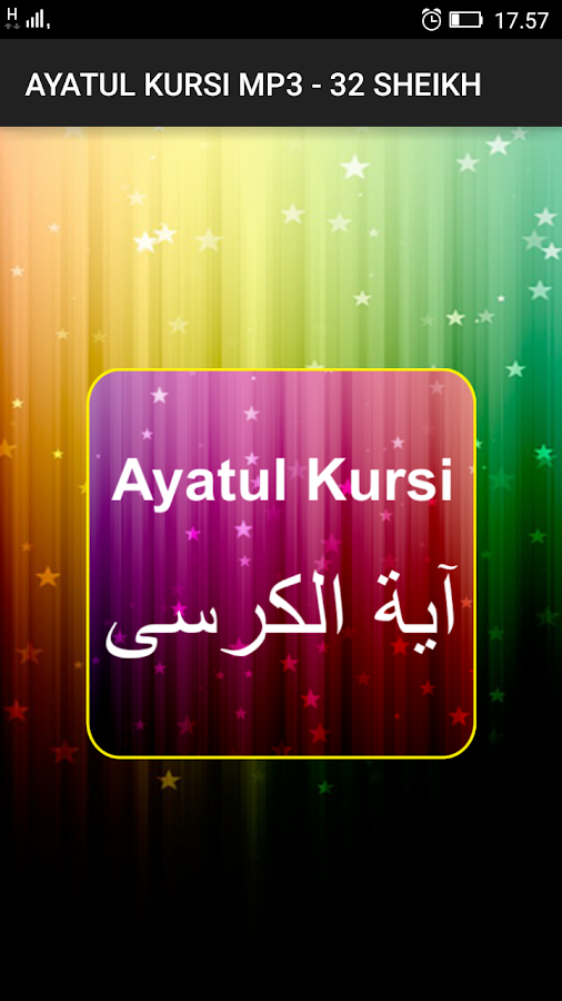 Ayatul Kursi Mp3 32 Sheikh 3 0 Apk Download Android Education Apps