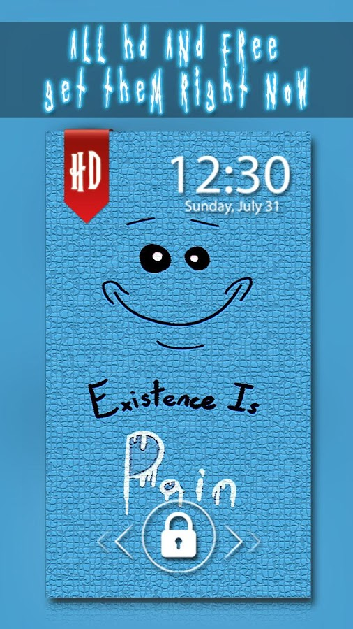 mr meeseeks phone wallpaper