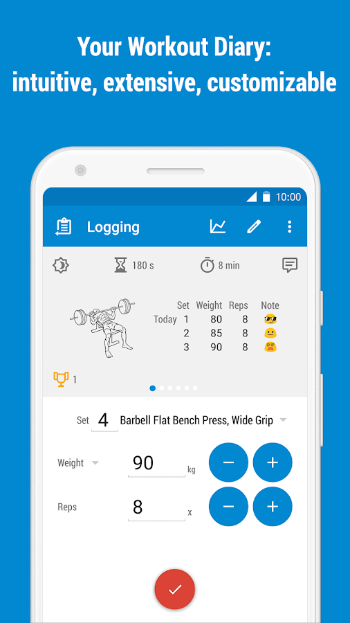 GymRun Workout Log & Fitness Tracker APK Download - Android