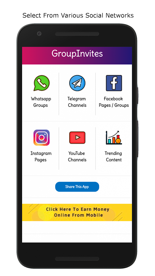 GroupInvites- Free Groups for WhatsApp,Telegram,FB 6 0 APK