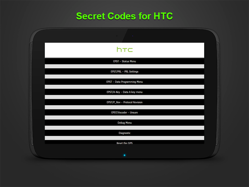Htc Secret Codes And Tricks