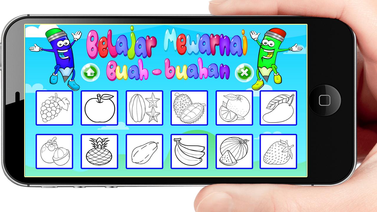 Belajar Mewarnai Buah Buahan Anak Paud Tk Sd 100 Apk Download