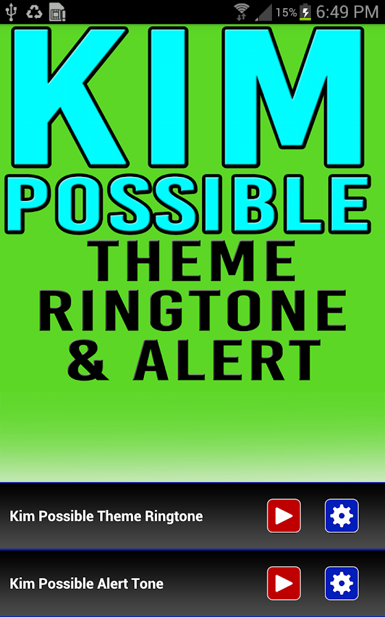 mobile ringtone download kim possible