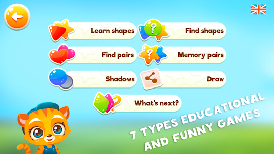 Learn shapes and forms Games for kids 1.1.1 screenshot 1