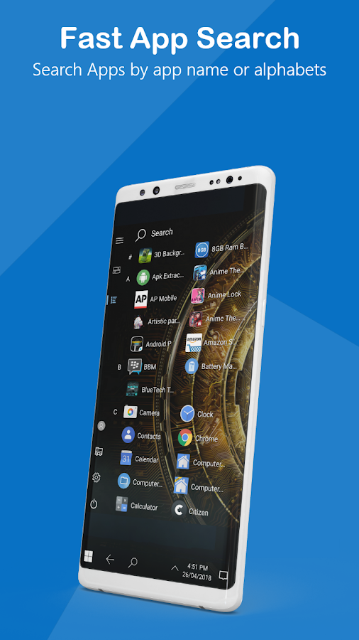 windows 10 launcher apk for android
