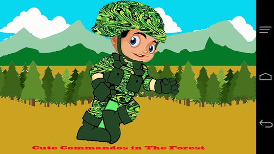 Cute Commando in The Forest 1.0 screenshot 1