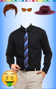 Men Shirt With Tie Photo Suit Maker 1.0.9 screenshot 2