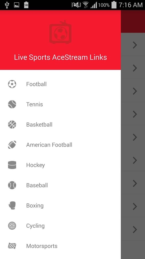 Live Sports AceStream Links 1 1 6 APK Download - Android Sports Games