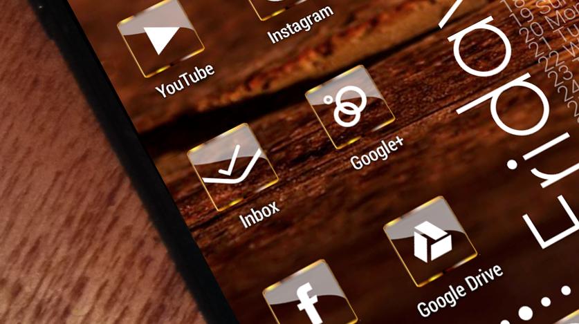 Golden Glass Nova Launcher theme Icon Pack 7 6 APK Download
