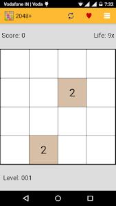 2048+ Number puzzle game 4.0 screenshot 1