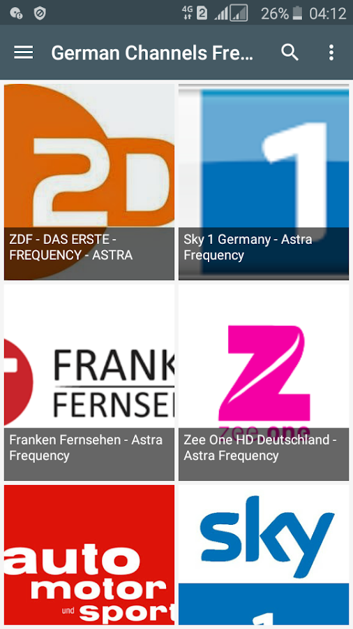German Channels Frequency 2 0 APK Download - Android